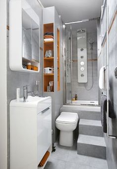 1000 images about studio 12 m amenagement on pinterest - Comment amenager une petite salle de bain ...