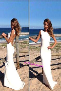 LJ4 New Arrival White Prom Dress,Charming Prom Dress,Chiffon