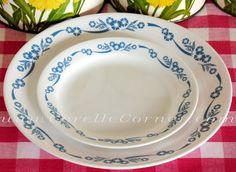 Corelle plates, Blue Cornflower