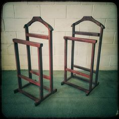 """Stands - Amazing solid wooden """"dumb valet"""" clothing stands in great condition - stylish & very useful! for sale in Gauteng Clothes Stand, Dumb And Dumber, Bar Stools, Conditioner, Woodworking, Stylish, Storage, Amazing, Clothing"""