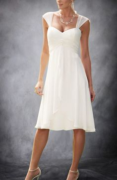 Cheap dress you, Buy Quality dress summer directly from China dresse Suppliers: Terence Bridal TSD108 Summer Short Cap Sleeves Chiffon Informal Beach Tea Length Wedding Dress 1.If you wan