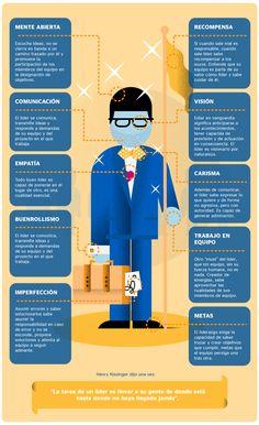 10 claves para un líder #infografia #infographic #leadership