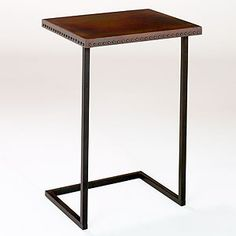 potential little table to put over my kitchen trash can and use as a entryway table, 2 (copper with rivets on the side) $79.99