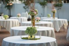 Garden outdoor wedding by Boyd's blossoms