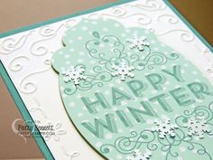 Stampin UP Wintertime Christmas Card with Snowflake Sequins by Patty Bennett