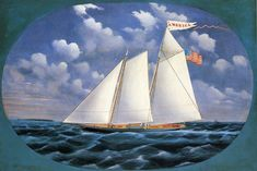 On August 22, 1851 the first America's Cup was won by the yacht America.  Image: America (schooner yacht) by Bard - America (yacht)