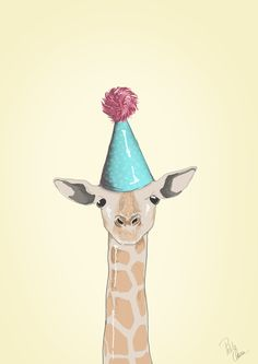 This Giraf likes a party! - by Lise Clara
