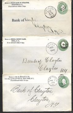 US Vintage 3 -19th CENTURY COVERS (NO LETTERS) OVER 130 YEARS SEE SCAN #!@