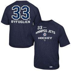 Dustin Byfuglien Winnipeg Jets Reebok No. 33 Locker Status Name & Number Speed Wick T-Shirt – Navy Blue