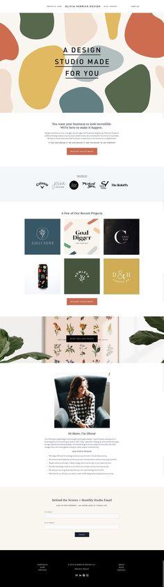 Olivia Herrick Design website - My Recommendations Design Websites, Web Design Trends, Layout Design, App Design, Branding Design, Logo Design, Website Design Inspiration, Graphic Design Inspiration, Website Layout
