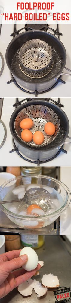 Foolproof Hard Boiled Eggs that peel cleanly every single time | stupideasypaleo.com