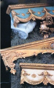 Embellish headboards by installing these above the bed, with some beautifully trimmed draperies gracefully encircling the bed, or above windows to enrichen draperies. rococo style pelmets