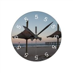 5 o'clock Beach Theme Wall Clock We have the best promotion for you and if you are interested in the related item or need more information reviews from the x customer who are own of them before please follow the link to see fully reviewsDeals          	5 o'clock Beach Theme Wa...