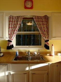 diy kitchen curtains - Kitchen Curtain Ideas Diy