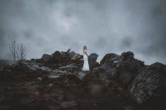 Braut auf der Wolfswarte im Harz