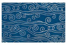 "I certainly have a thing for ""beachy"" rugs!   Jellyfish Rug, Cobalt/White on OneKingsLane.com"