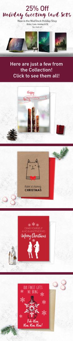 25% off Holiday Greeting Cards! Our designers worked hard on this collection!