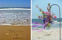 I only like the picture to the left with the table number :) Beach Wedding Ideas http://prettyweddingidea.com/