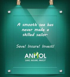 A smooth sea has never made a skilled sailor!  #Save #Insure #Anmolshare #Insurance #Planning #Investments  Visit us at-http://buff.ly/2ttotAk