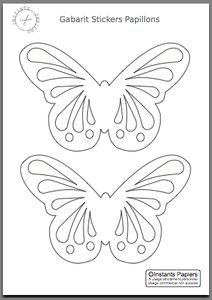 template butterfly