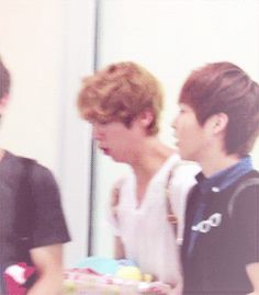 Luhan and Xiumin! OMO LuLu is coughing his brains out, while XiuXiu is like, please, don't come near me!