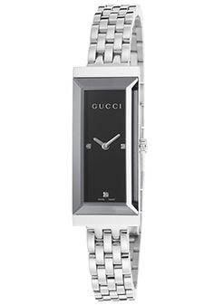 Gucci Women's G-Frame Black Dial Stainless Steel