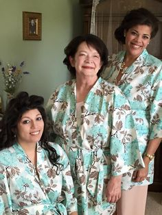 Custom Wedding Day Robes, handmade by Belles of Cotton - bride, mother of the bride, maid of honor, & bridesmaids robes