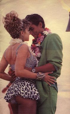 Madonna and model 1985 in Hawaii photographed by Herb Ritts,