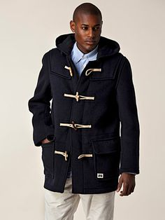 Drake Duffel Jacket - Brixtol - Navy - 2 495 kr. Drake, Suit Jacket, Suits, Navy, Jackets, Men, Fashion, Down Jackets, Moda