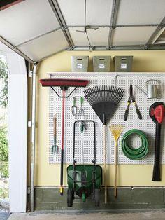 garage pegboard organizing