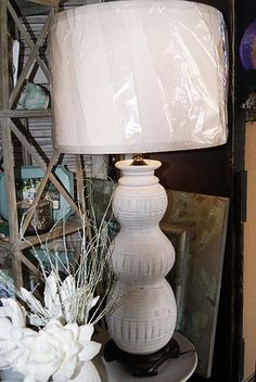 Peter's Pottery White Bubble Vase Lamp! I have wanted this for YEARS in brown. :(