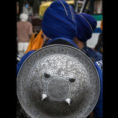 Picture of the day Check out the beautiful designs on this Sikh dhal shield the primary defensive weapon of the Sikh Khalsa.