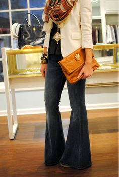 """1st Pinterest Purchase... I had to have them. 7 For All Mankind """"Bell Bottom Super Flare"""" jeans!"""