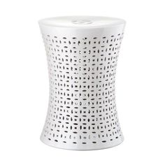 Safavieh ACS4550 Camilla Ceramic Garden Stool White Home Decor Garden (125 AUD) ❤ liked on Polyvore featuring home, outdoors, patio furniture, outdoor stools, garden decor, garden stools, home decor, white, garden side table and garden white furniture