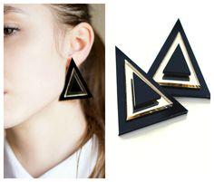 Triangle earrings 2