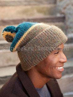 Веселая цветная шапка