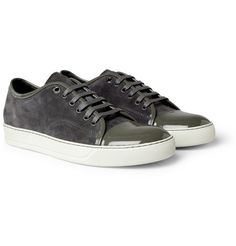 brand new 13179 327a0 LANVIN Suede and Patent Leather Sneakers Smart Enough to bring you to a  dinner date Mr