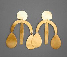 Image of Arc Drop Chandelier Earring - Gold