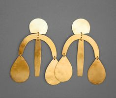 Image of Arc Drop Chandelier Earring - Gold
