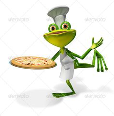 Buy Frog Chef With Pizza by brux on GraphicRiver. Frog Chef With Pizza abstract illustration frog chef with a pizza JPEG PNG created in max Frog Pictures, Frog Art, 3d Design, Render Design, Cute Frogs, Graphic Design Templates, Frog And Toad, 3d Character, Whimsical Art