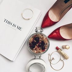 This is me// flat lay Sandra Bendre modern and minimal luxury fashion style