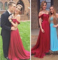 2016 Red Chiffon Strapless Sweetheart Neckline Prom Dress,Evening Dress
