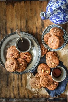 Chocolate Almond Ginger Cookies