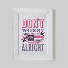 Don't Worry Cross Stitch Pattern Digital Format door Stitchrovia