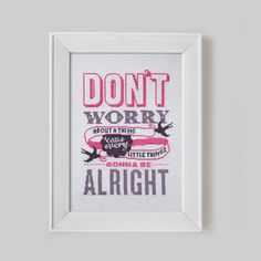 Don't Worry Cross Stitch Pattern Digital Format by Stitchrovia, £8.50