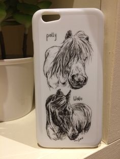 Custom phone cover case art pet horse drawing
