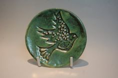 Ring Dish Plate Handmade Dove Jewellery Bowl Verdi by REDceramics, £14.00