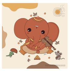 Lord Ganesha, Lord Shiva, Art Drawings For Kids, Art For Kids, Festival Background, Indian Art Paintings, Cute Gif, True Beauty, Deities