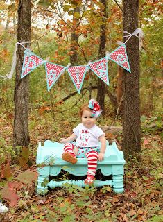 The Clayton Family: Paige's 1st Birthday Photo Shoot!