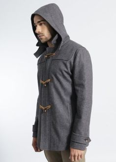 Amazon.com: Brooklyn Industries Men's Alexander Wool Duffel Coat with Toggles and Removable Hood: Clothing